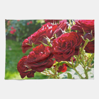 Red Roses Tea Towel