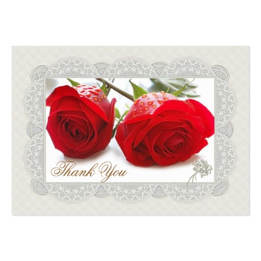 Red roses Thank you Wedding/Gift Tag Business Card