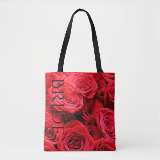 Red Roses tote for the Bride