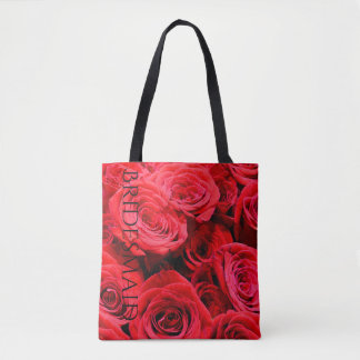 Red Roses tote for the Bridesmaid