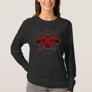 Red Roses & Tribal Pattern: Custom Shirt
