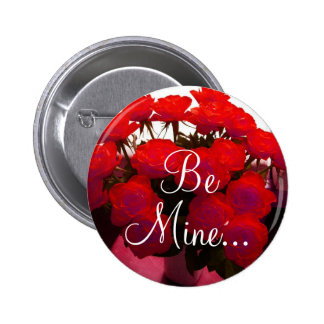 Red Roses Valentine II Button - Customizable Pins