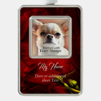 Red Roses vertical Banner Ornament