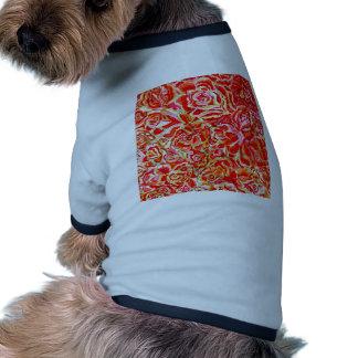 Red Roses Watercolor Ringer Dog Shirt
