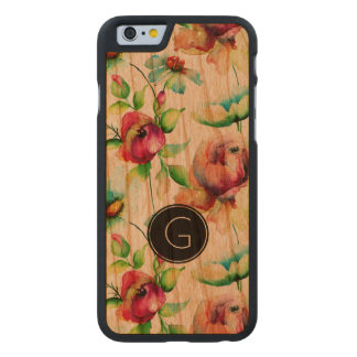 Red Roses Waterloos Illustration Carved® Cherry iPhone 6 Slim Case