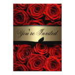 Red Roses Wedding 5x7 Paper Invitation Card
