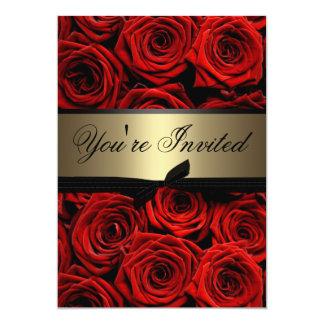 Red Roses Wedding 13 Cm X 18 Cm Invitation Card