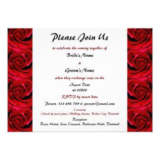 red roses wedding invitations - customizable