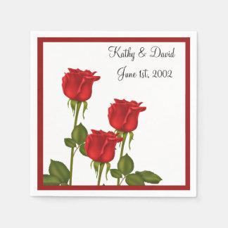 Red Roses (Wedding) Paper Napkins