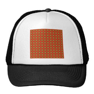 Red Round Images Mesh Hats