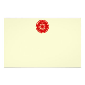 Red Round Lace Pattern Graphic. 14 Cm X 21.5 Cm Flyer
