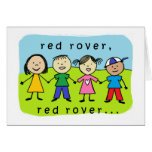 Red rover 80th birthday card