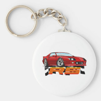 Red_RS_3G Basic Round Button Key Ring