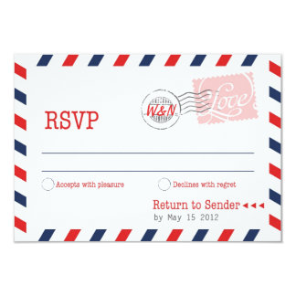 Red RSVP Postal Service Collection Card
