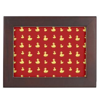 Red rubber duck pattern keepsake box