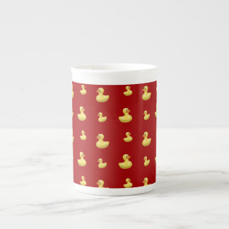 Red rubber duck pattern porcelain mugs