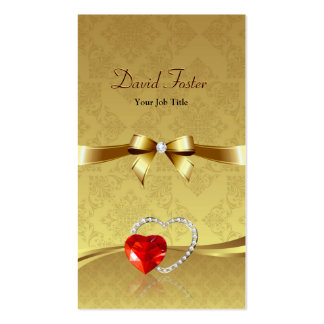 Red Ruby Diamond Gold Jeweler Jewelry Jewellery Pack Of Standard Business Cards
