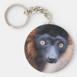 Red Ruffed Lemur Keychain