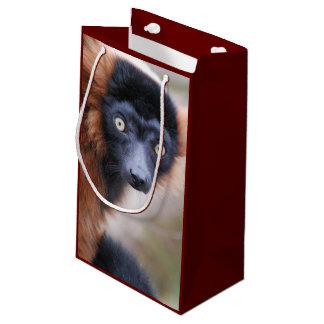 Red Ruffed Lemur Small Gift Bag