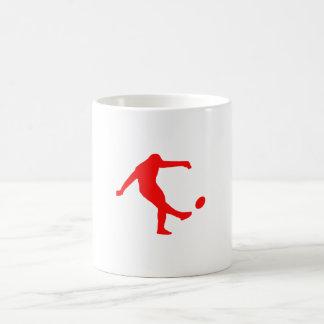 Red Rugby Kick Mugs