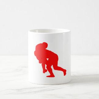 Red Rugby Tackle Coffee Mug