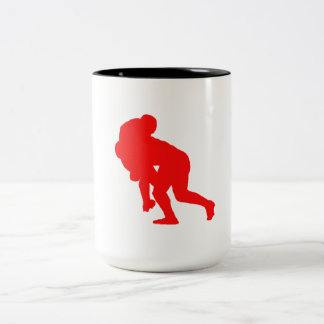 Red Rugby Tackle Mugs
