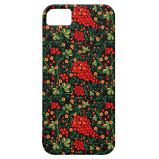 Red Russian Khokhloma Design Mobile Accessories iPhone 5 Cases