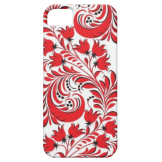 Red Russian Khokhloma iPhone 5 Case