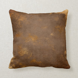 Red Rust Distressed Grungy Maroon Gold Sepia Cushion