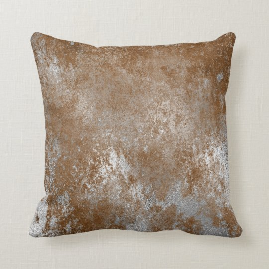 Red Rust Distressed Grungy Silver Cement Gray Throw
