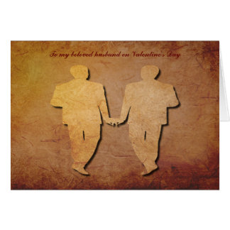 Red Rustic Vintage Texture Gay Husband Valentine Card