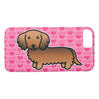 Red Sable Long Coat Dachshund Cartoon Dog iPhone 8/7 Case