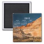 Red Saddle Rocks; 2012 Calendar Fridge Magnets