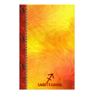 Red Sagittarius Horoscope Symbol Custom Stationery