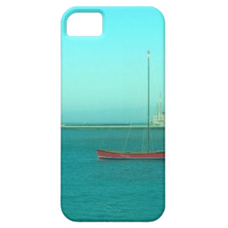 Red Sail Boat Blue Skies Barely There iPhone 5 Case