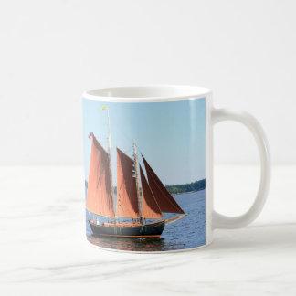 red sailed schooner mugs