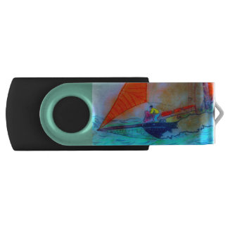 red sailed schooner usb flash drive