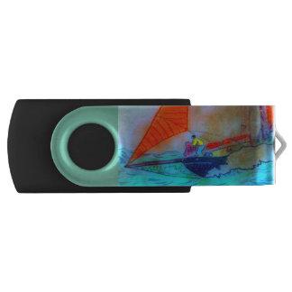 red sailed schooner usb flash drive swivel USB 3.0 flash drive
