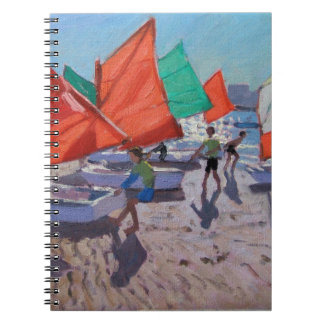 Red Sails Royan France Spiral Note Book