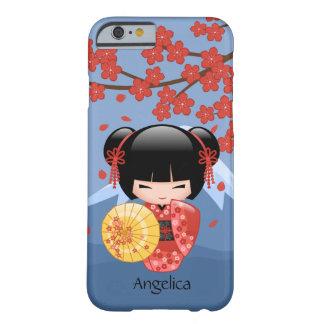 Red Sakura Kokeshi Doll - Cute Geisha Girl Barely There iPhone 6 Case