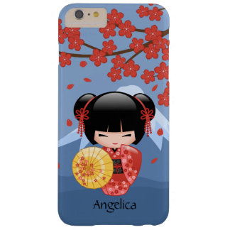 Red Sakura Kokeshi Doll - Cute Geisha Girl Barely There iPhone 6 Plus Case