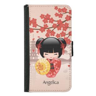 Japanese Red Sakura Kokeshi Doll Samsung S10 Case