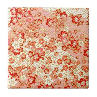 Red Sakura Ceramic Tiles