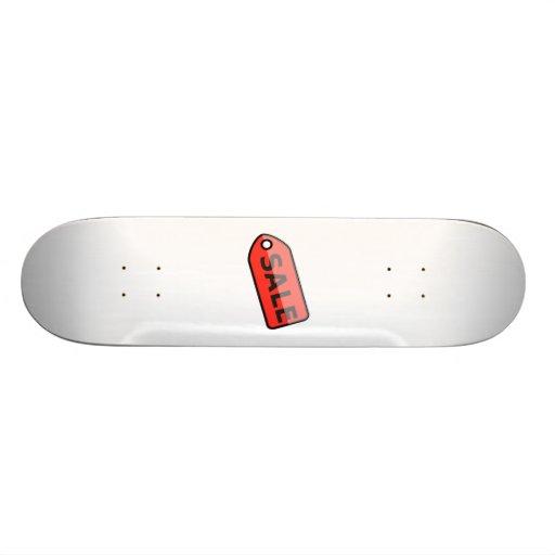 Red Sale Sign Skateboard Deck