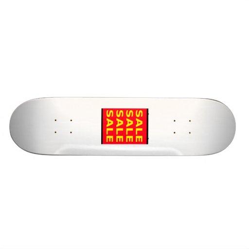 Red Sale Sign Skateboard