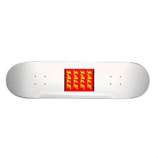 Red Sale Sign Skateboards