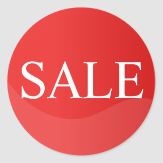 Red Sale Sticker for Business