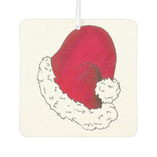 Red Santa Claus Hat Merry Christmas Holiday Car Air Freshener