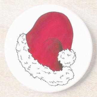 Red Santa Claus Hat Secret Santa Christmas Xmas Coaster