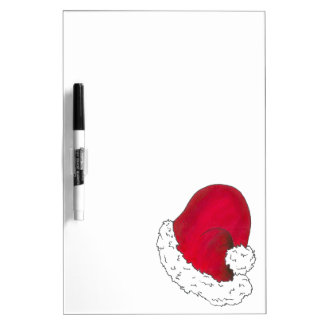 Red Santa Claus Hat Secret Santa Christmas Xmas Dry Erase Board